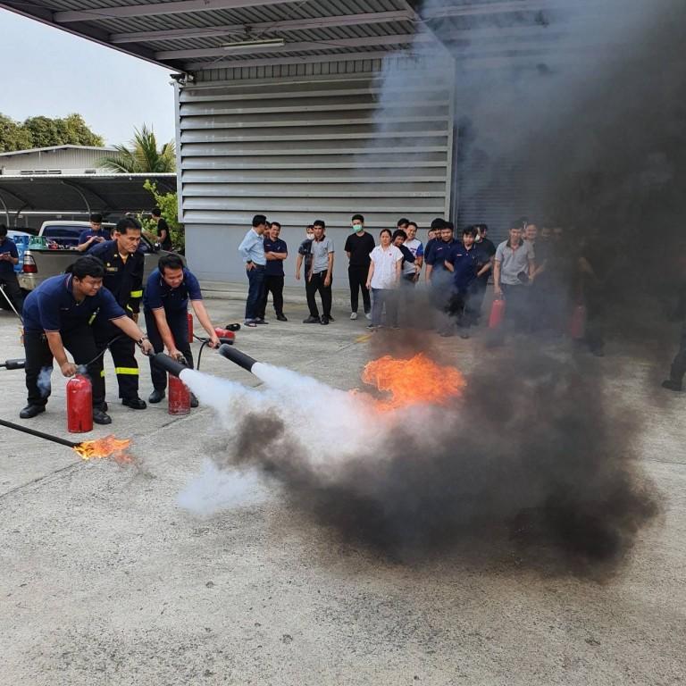 อบรมหลักสูตรการดับเพลิงขั้นต้น ประจำปี 2563